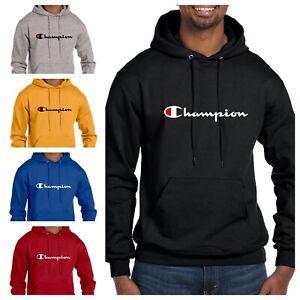 Champion Hoodie Mens Classic Script Logo ECO Authentic  - 12 Colors Available