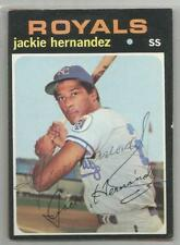 Kansas City Royals JACKIE HERNANDEZ autographed 1971 Topps