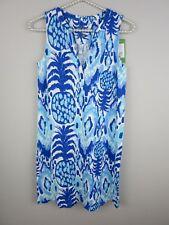 LILLY PULITZER Blue Dev Dress Pineapple Tropi Call Me Dress XXS NWT F11