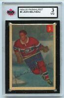 1954-55 Parkhurst #3 Jean Beliveau HOF Graded 3.0 VG (*2020-231)