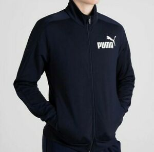 Puma Tracksuit Jacket Mens Navy Size UK XXL *REF55
