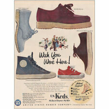 1954 Keds Shoes: Wish You Were Here Vintage Print Ad