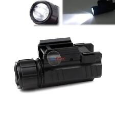 Mini 200Lumen Strobe LED Tactical Flashlight with 20mm Rail for Pistol