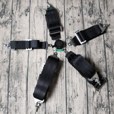 "Sports Racing Harness Seat Belt 3"" 4 5 Point Fixing Black Quick Release"