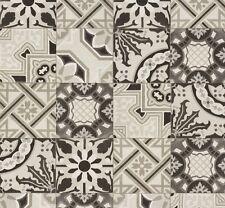 Tapete Fliese Mosaik Ethno Rasch Pure Vintage schwarzweiß 526318 (2,31€/1qm)