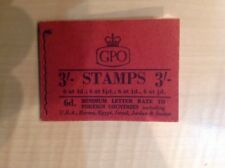Great Britain Stamp Booklet Graphite 3/- August 1959 M13g