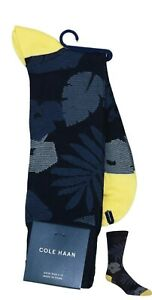 Cole Haan Tonal Palm Tree Leaves Men's Crew Socks One Size Fits Most NWT