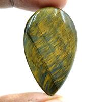 Cts. 42.75 Natural Chatoyant High Grade Blue Tiger Eye Cabochon Pear Gemstone