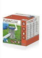 Bestway Flowclear 330gal Filter Pump Swimming Pool Grey 27x25x27 cm NEW