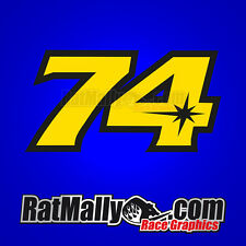 DAIJIRO KATO 74 MOTOGP RACE NUMBERS STICKERS DECALS x3 WITH 20% TO CHARITY