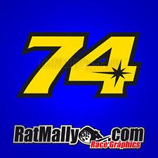 Daijiro Kato 74 carrera de MotoGP números Stickers Calcomanías X3 Con 20% a obras benéficas