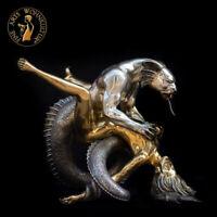 Bronze Skulptur Figur Erotik Dragons Rape Girl Tisch Sofa Couch Esstisch Möbel