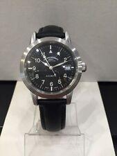 Mechanisch-(Automatisch) Armbanduhren aus echtem Leder mit Saphirglas und Matte