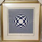 "Victor Vasarely ""Vertigo"" signed Original Limited Edition Silkscreen #104/325"