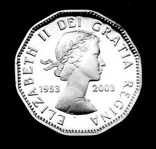 1953 - 2003 5¢ silver proof coin celebrating 50th anniv. of queen Elizabeth