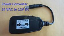 24 VAC to 12 VDC 1500mA Power Converter Adapter Indoor Outdoor Security Camera