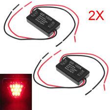 2X GS-100A Car Pickup LED Brake Stop Bulb Light Strobe Flash Module Controller