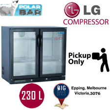 2 Door Bar Fridge Beer Two Double Display Alfresco Under Bench Black Pickup Only