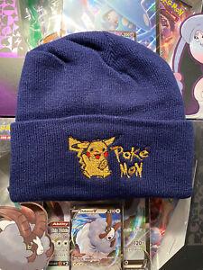 Vintage Pikachu Pokemon Beanie Hats Deadstock