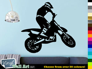 Motorcorss Dirt Bike Motorbike Vinyl Wall Art / Van Sticker Decal + FREE UK P&P