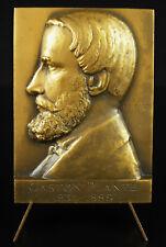 Médaille Gaston Planté inventeur de accumulateur électrique physicien 1920 medal