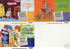 Lot de 3 Cartes Postales Publicitaire SNCF // Humour