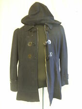 Ladies Coat - Black Rivet,size XL, navy, duffle style, hooded, casual, used 7740