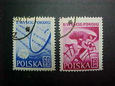 Poland Scott #777-8 used Bicycle Race
