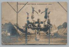 Cincinnati Turnfest RPPC Gymnastics Antique Photo—German-American Ohio 1909