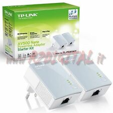 ADATTATORE TL-PA4010KIT POWERLINE RETE LAN ETHERNET 500Mbps ELETTRICA COMPUTER