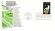 1984 COMMEMORATIVE SOIL+WATER CONSERVATION ARISTOCRATS CACHET & STORY UNADDR FDC