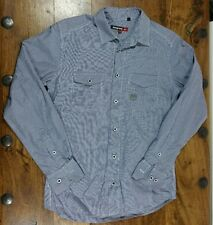 DUCK & COVER GINGHAM BLUE AND WHITE CHECK LONG SLEEVE SHIRT SIZE SMALL