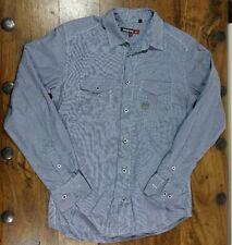 Duck & Cover Vichy Blu E Bianco Check camicia a maniche lunghe taglia small