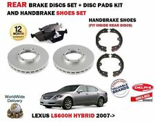 FOR LEXUS LS600H 5.0 2UR-FSE 2007-> REAR BRAKE DISCS SET + DISC PADS + SHOES KIT