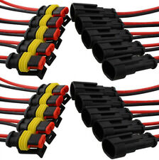 1x 2 Pin Car SUV Boat Wire Connector Plug Terminal Sealed Waterproof Electrical