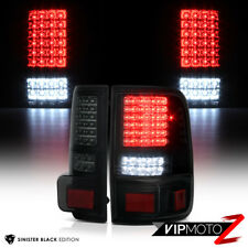 """SINISTER BLACK"" 2004-2008 Ford F150 PickUp Smoke LED SMD Rear Tail Lights Brake"