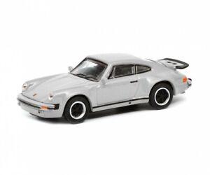Schuco 26562 - 1/87 Porsche 911 (930), Argent - Neuf