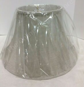 Frontgate Grandinroad Oatmeal Shade Linen Flared Drum Lamp Light Shade Table