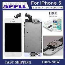 For iPhone 5 5G Complete LCD Touch Screen Digitizer Replacement Button White AA+