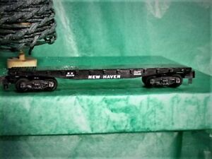 Vintage S American Flyer 24539 AC Gilbert NEW HAVEN Black Flat Car myt0308