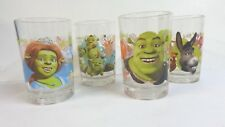 Shrek the Third McDonald's Set of 4 Dreamworks Glasses Shrek Fiona Donkey Babies