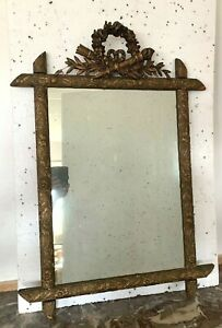 Miroir de style Louis XVI en bois et stuc patiné xx SI7CLE