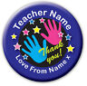 Personalised Teacher Hand Gift Mirrors - end of term present,thank you,christmas