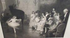 """ARTHUR J. ELSLEY """"A PRIVATE REHEARSAL"""" HUGE OLD ORIGINAL STEEL ENGRAVING 1914"""