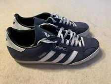 Adidas Samba men's casual trainers in blue/white - size 10