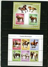 GUINEA BISSAU 2010 FAUNA HORSES SHEET OF 6 STAMPS & S/S MNH