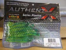 "B Fish N Authent X soft plastic 3.25"" Pulse chart green core color NIP"
