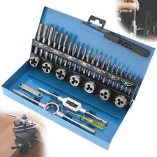 TAP AND DIE Set 32 piece SAE & METRIC w/Case Screw Extractor Remover Chasing