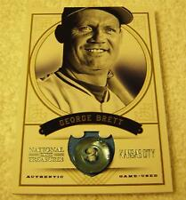 GEORGE BRETT 2012 PANINI NATIONAL TREASURES JERSEY BUTTON PATCH SERIAL #5/5