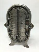 Ancien Thermomètre étain Antique Tin Thermometer Météo